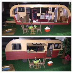 Miniature Vintage Travel Trailer Dollhouse Fully Furnished Assembled | eBay: