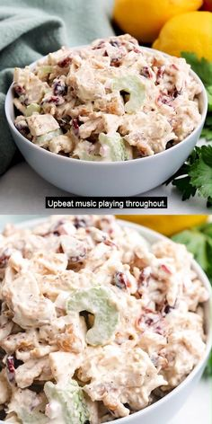 A 10-minute cranberry chicken salad made with rotisserie chicken, celery, cranberries, toasted walnuts, and creamy Dijon dressing! #morethanmeatandpotatoes Yummy Chicken Recipes, Chicken Meals, Rotisserie Chicken, Chicken Salad, Potato Recipes, Yummy Food, Best Salad Recipes, Lunch Recipes, Fall Recipes