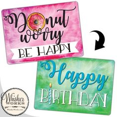 Donut worry, be happy / Happy Birthday plastic sign for a photo booth party Plastic Signs, Diy Photo Booth, Holiday Photos, No Worries, Happy Birthday, Party, Handmade, Holiday Pictures, Happy Brithday