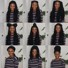 New video on my channel on 12 ways to style these crochet goddess locs from Urban Beauty Hair! (Link in my bio) - which one is your fave? Box Braids Hairstyles For Black Women, Faux Locs Hairstyles, Try On Hairstyles, Trending Hairstyles, African Hairstyles, Crotchet Braids Hairstyles, Single Braids Hairstyles, Marley Twist Hairstyles, Halloween Hairstyles