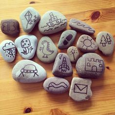 The story stones I have made for my foundation stage class. Work in progress! Literacy Activities, Activities For Kids, Crafts For Kids, Rock Crafts, Arts And Crafts, Foundation Stage, Writing Area, Story Stones, Early Literacy