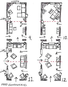 Furniture arrangments in a narrow living room (12ft * 24ft)