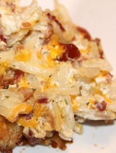 Loaded Baked Potato Casserole - A simple side dish for your next get-together | Amanda's Beauty and Recipe Finds