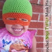 Kids Ninja Turtle Mask Hat Beanie - via @Craftsy