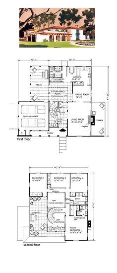 Prairie House Plan 43008   Total Living Area: 2383 sq. ft., 4 bedrooms and 2.5 bathrooms. #houseplan #prairiehome