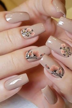 Pin on Nail art Pin on Nail art Cute Acrylic Nails, Cute Nails, Pretty Nails, Nagellack Design, Nagellack Trends, Nail Swag, Floral Nail Art, Dream Nails, Nagel Gel