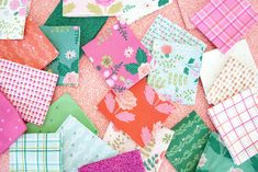 New Dawn fabric by Citrus & Mint Designs for Riley Blake Designs Mint Background, We Are Love, Riley Blake, Fun Projects, Baby Quilts, Beautiful Gardens, More Fun, Dawn, Hot Pink