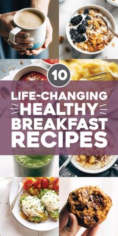 Our Best Healthy Breakfast Recipes 10 Life-Changing Healthy Breakfast Recipes! Our favorite healthy breakfast recipes to start the day off right and keep you fueled throughout the morning. High Protein Snacks, Low Carb High Protein, Breakfast And Brunch, Breakfast Bowls, Breakfast Ideas, Breakfast Crepes, Breakfast Cookies, Healthy Breakfast Recipes, Brunch Recipes
