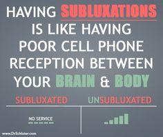 Having subluxations is having poor communication. Let us Help! Lindeman Chiropractic