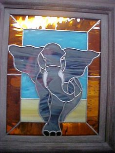 "Stained glass elephant - love the ""3D"" effect!"