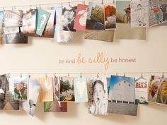 photo idea to hang some of the million 4x6s I have!