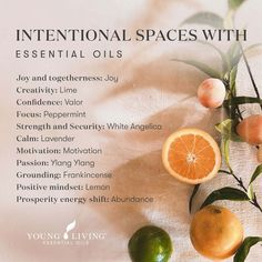 Enhance your space with the aromas of essential oils. Why essential oils? Smell is the only sense that has a direct connection to the limbic lobe of the brain, the emotional control center. A scent can evoke an emotion or memory before we are consciously aware of it. Add a few drops in your diffuser and enjoy the benefits! Here are a few essential oils to consider as you create intentional spaces. #aromatherapy #selfcare #health #wellness #essentialoils #youngliving #yleo Joy Essential Oil, Young Living Essential Oils, Leg Workout Women, Young Living Business, Health And Fitness Expo, Living Oils, Positive Mindset, Massage Therapy, At Home Workouts