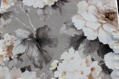 Dusk Grey Rose Eleta Fabric By The Yard Curtain by FabricMart