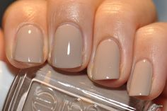 Love the nude nail color.  Essie - jazz