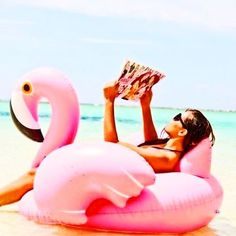 Inflatable flamingo pool toys, who knew!