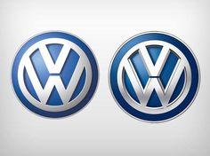 Logotipos antigo e novo da Volkswagen