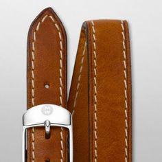 18mm Saddle Calf Skin Double Wrap Strap MS18BX270216   MICHELE®