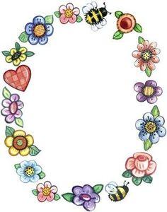 Summer floral clipart frame #clipart #patterns