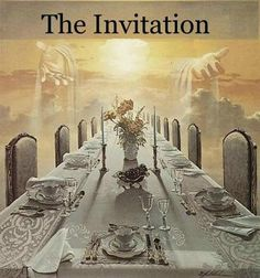 THE INVITATION: Blessed are those who are invited to the wedding feast of the…