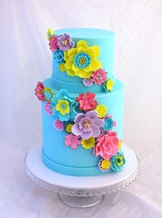 Bespoke Cakes - Whoopie Pies, Cupcakes, Cookies, Celebration Cakes and other Sweet Things Beautiful Wedding Cakes, Beautiful Cakes, Amazing Cakes, Cake Decorating With Fondant, Cake Decorating Tools, Decorating Ideas, Birthday Cakes For Teens, Birthday Stuff, Happy Birthday