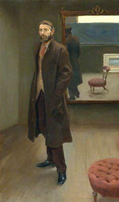 Roger Eliot Fry - Edward Carpenter, 1894, Oil on canvas, 74.9 x 43.8 cm, National Portrait Gallery, London