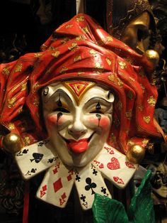 It's A Masquerade Party… Carnival Of Venice, Carnival Masks, Carnival Costumes, Harlequin Costume, Costume Venitien, Jester Costume, Jokers Wild, Venice Mask, Joker Card