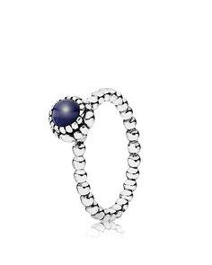 PANDORA Ring - Sterling Silver & Lapis Birthday Blooms September   Bloomingdale's