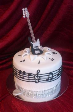 Exclusive Image of Birthday Cakes With Guitars On Them . Birthday Cakes With Guitars On Them Guitar Birthday Cakes Guitar Birthday Cakes, Guitar Cake, Birthday Cakes For Teens, Themed Birthday Cakes, Music Themed Cakes, Music Cakes, Rock Star Cakes, Bolo Musical, Piano Cakes