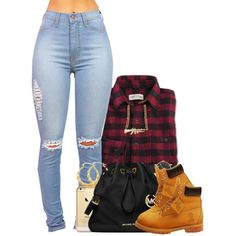 Untitled #1126 by missglamfashionz on Polyvore featuring polyvore fashion style Timberland MICHAEL Michael Kors Marc by Marc Jacobs