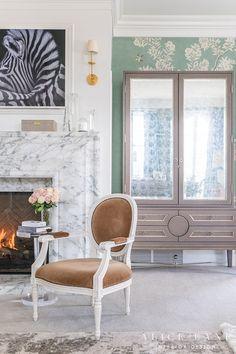 bedroom fireplace Master Bedroom Design, Home Bedroom, Master Bedrooms, Master Suite, Bedroom Ideas, Cute Living Room, Living Room Decor, Rachel Parcell Bedroom, Farmhouse Interior