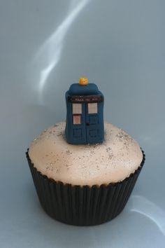Tardis cupcake www.clarescupcakes.co.uk
