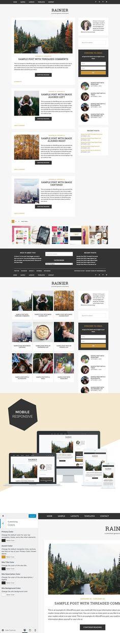 Rainier / WordPress (Genesis) Theme. WordPress Blog Themes