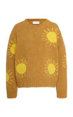 Intarsia-Knit Wool-Blend Sweater by Mansur Gavriel Crochet Jumper, Crochet Baby, Knit Crochet, Intarsia Knitting, Vogue, Moda Vintage, Baby Vest, Harajuku Fashion, Character Outfits