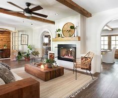 Want WOOD BEAMS...not white ones in renovation  family room...  Design tips from The Ivy House