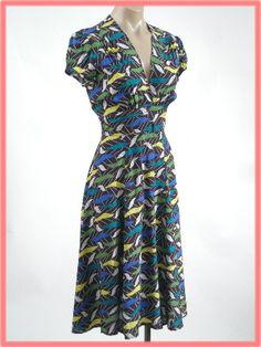 Trashy Diva Vintage Style Atomic Novelty Print Dress