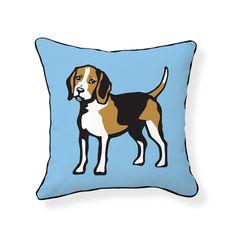 Naked Decor » Beagle Pillow