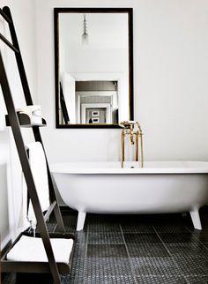 Claw-foot tub lovin + the factory window shower = awsome sauce