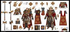 Warhammer Total War by StTheo on DeviantArt Warhammer Fantasy, Warhammer Empire, Fantasy Character Design, Character Concept, Character Art, Concept Art, Character Sheet, Character Ideas, Fantasy Battle