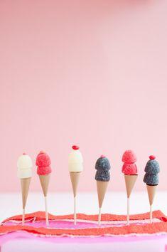 Gum Drop Ice Cream Cone Toppers DIY