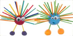 A fun kid's craft activity using household objects that takes seconds to make a delightful space alien.