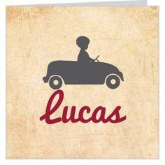 Geboortekaartje voor een jongen met silhouet van autotootje. www.babyboefjes.nl. #geboortekaartje #jongen #busjes #silhouette
