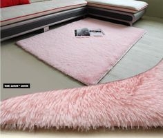 4 x 5  Pink Area Carpet for Bedroom / Living Room / Area Rugs  #HUAHOO