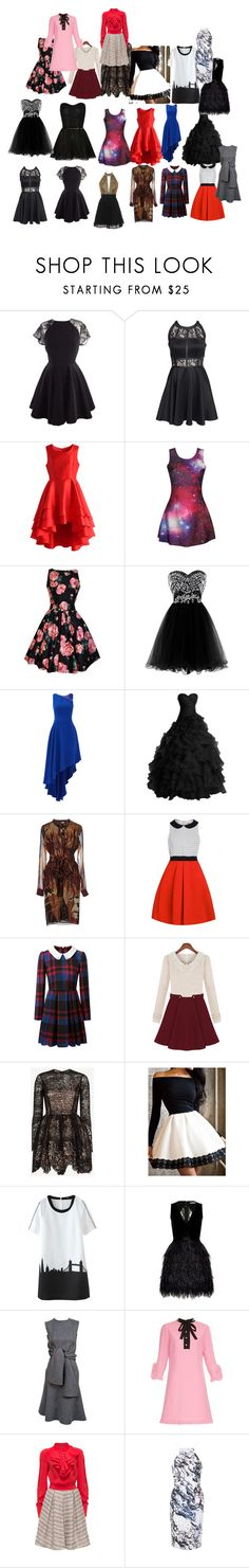 """""""Dresses i like"""" by rebelheartbreaker ❤ liked on Polyvore featuring AX Paris, Chicwish, Halston Heritage, Gucci, Alexis, Alice + Olivia, Lattori and Topshop"""