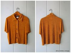 Basic Stretch Top Minimal Short Sleeve 90s Top Copper Orange Textured Crop Top Stretchy Simple Modern Tee Cropped Womens Large XL Minimal Look, Vintage Tops, Fashion Styles, Copper, Crop Tops, Orange, Tees, Simple, T Shirts
