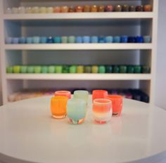 Just learned about Glassybaby today... via Design by Novogratz.