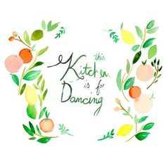 """Mai Autumn This Kitchen is for Dancing by Christine Lindstrom Painting Print Size: 20"""" H x 30"""" W"""