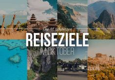 The 11 most beautiful travel destinations in October – insider tips for adventure and outdoor fans - Pinci. Travel Guides, Travel Tips, Travel Destinations, Life Is An Adventure, Adventure Travel, Travel Around The World, Around The Worlds, Egypt Travel, Make New Friends