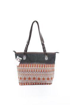 Lanna Thai Pattern Handbag Hemp & Vintage Hand by ThaiHandbags