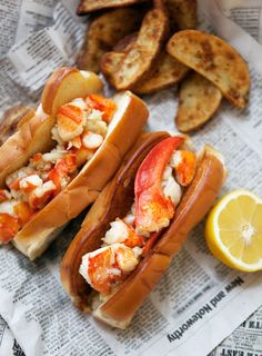 Brown butter lobster rolls.