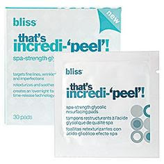Sephora: Bliss : That's Incredi-'Peel'! Spa-Strength Glycolic Resurfacing Pads : facial-peels